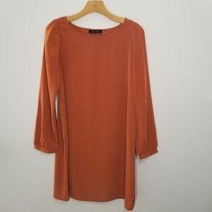 Honey Punch Large burnt orange long sleeve dress